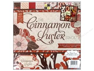 DieCuts with a View: Die Cuts With A View 12 x 12 in. Cardstock Mat Stack Cinnamon Luster