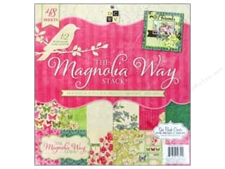 Clearance Die Cuts with a View Stacks: Die Cuts 12 x 12 in. Cardstock Mat Stack Magnolia Way