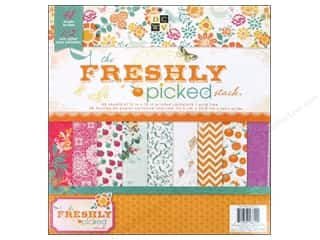 Die Cuts With A View 12 x 12 in. Cardstock Mat Stack Freshly Picked