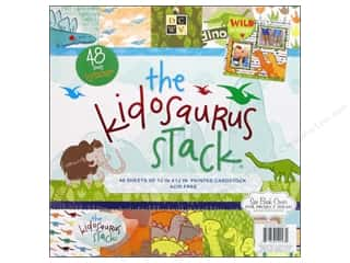 DieCuts with a View 12 x 12: Die Cuts With A View 12 x 12 in.Cardstock Mat Stack Kidosaurus