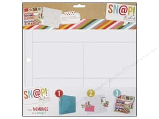 Scrapbook / Photo Albums Pockets & Page Protectors: Simple Stories Page Protector Snap Design 9