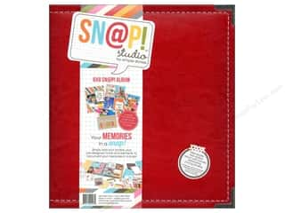 "Simple Stories Album Snap Leather 6""x 8"" Red"