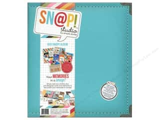 "Simple Stories Album Snap Leather 6""x 8"" Teal"