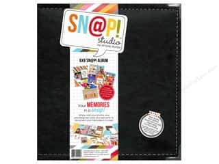 Simple Stories Memory Albums / Scrapbooks / Photo Albums: Simple Stories SN@P! Leather Album 6 x 8 in. Black
