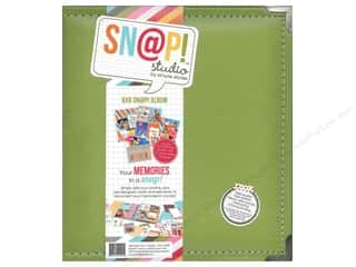 "Simple Stories Album Snap Leather 6""x 8"" Green"