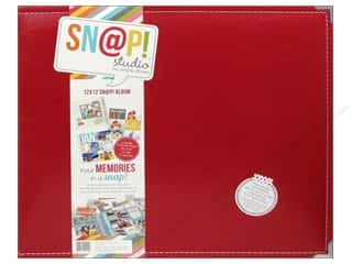 Simple Stories Album Snap Leather 12x12 Red