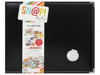 Simple Stories Album Snap Leather 12x12 Black