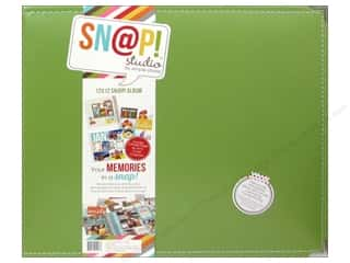 Simple Stories Album Snap Leather 12x12 Green