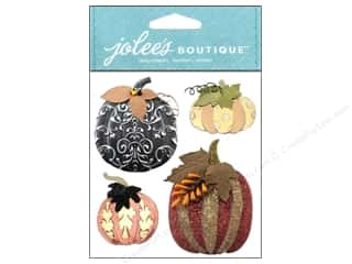 Jolee's Boutique Stickers Metallic Pumpkins
