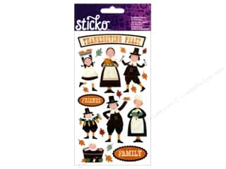 Captions Fall / Thanksgiving: EK Sticko Stickers Thanksgiving Fun