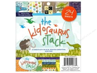 Die Cuts With A View  6 x 6 in. Cardstock Mat Stack Kidosaurus