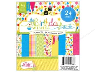 Die Cuts 6 x 6 in. Cardstock Mat Stack Birthday Wishes