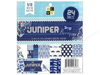 Die Cuts With A View  6 x 6 in. Cardstock Mat Stack Juniper Berry