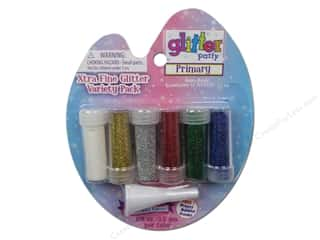 2013 Crafties - Best Adhesive: Sulyn Glitter Variety Pack Extra Fine Primary 6pc