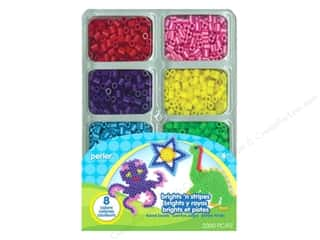 Perler $1 - $3: Perler Fused Bead Tray Brights N Stripes 2000pc
