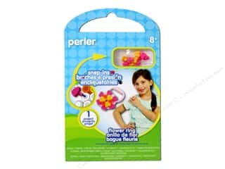 Crafting Kits Flowers: Perler Fused Bead Kit Flower Ring