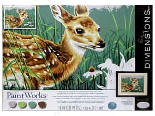Outdoors Crafting Kits: Paintworks Paint By Number Kit 14 x 11 in. Fawn And Flowers