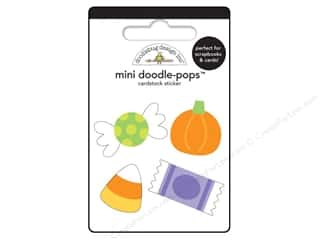 Halloween Spook-tacular paper dimensions: Doodlebug Doodle-Pops 3-D Stickers Mini Teeny Treats