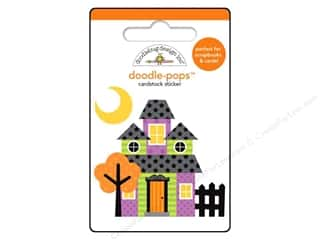 Doodlebug Doodle-Pops 3-D Stickers Haunted House