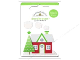 Doodlebug Doodle-Pops 3-D Stickers Holiday Home