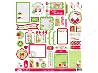 sticker: Doodlebug Cardstock Stickers Home For The Holidays This & That