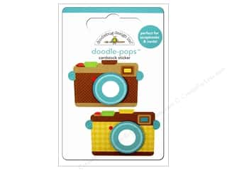 Doodlebug Dimensional Stickers: Doodlebug Doodle-Pops 3-D Stickers Say Cheese