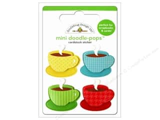 Tea & Coffee Stickers: Doodlebug Doodle-Pops 3-D Stickers Cup Of Joe
