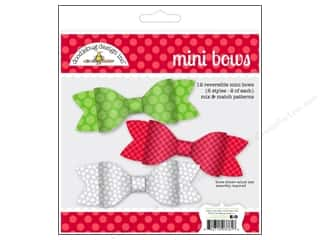 Craft Embellishments: Doodlebug Embellishment Craft Kit Home For The Holidays Mini Bows
