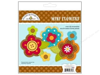 Craft Embellishments: Doodlebug Embellishment Craft Kit Happy Harvest Mini Flowers