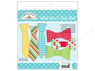 Craft Embellishments: Doodlebug Embellishment Craft Kit Day To Day Mini Ties & Bow Ties
