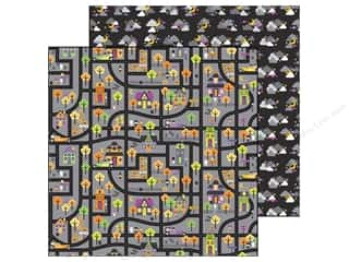 Doodlebug Paper 12 x 12 in. Haunted Houses (25 piece)