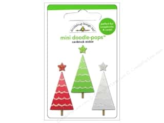 Christmas paper dimensions: Doodlebug Doodle-Pops 3-D Stickers Mini Tree-O