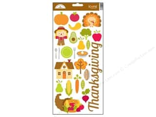 Doodlebug Sticker Happy Harvest Cdstk Thanks Icon