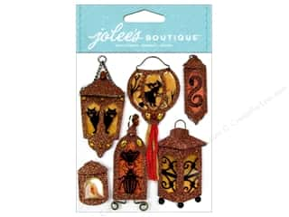 stickers  -3D -cardstock -fabric: Jolee's Boutique Stickers Lantern Silhouettes