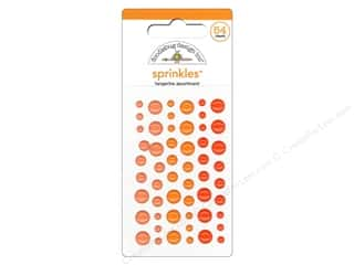 This & That Doodlebug Sticker: Doodlebug Stickers Sprinkles Tangerine