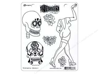Ranger Dylusions Stamp Rubber Pin Up Queen