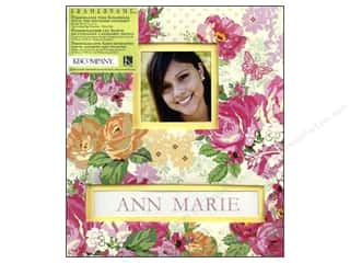 "Scrapbook / Photo Albums Burgundy: K&Company Scrapbook Album 8.5""x 11"" Frame A Name Pink Floral"