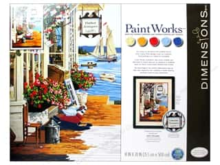"Beach & Nautical Crafting Kits: Paintworks Paint By Number 14""x 20"" At The Harbor"