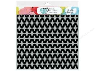 The Crafter's Workshop Template 12 x 12 in. Squiggles