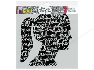 The Crafter's Workshop Template 12 x 12 in. Silhouette Script