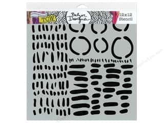 Sponges Length: The Crafter's Workshop Template 12 x 12 in. Dash Circle Dash