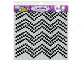 The Crafter's Workshop Template 12 x 12 in. Chevron Tiles