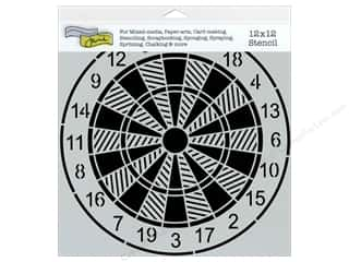 Toys inches: The Crafter's Workshop Template 12 x 12 in. Dartboard