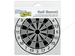 Stencils $5 - $6: The Crafter's Workshop Template 6 x 6 in. Dartboard