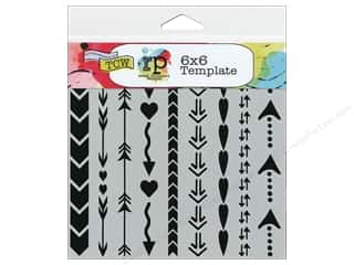The Crafter's Workshop Template 6 x 6 in. Arrows & Hearts