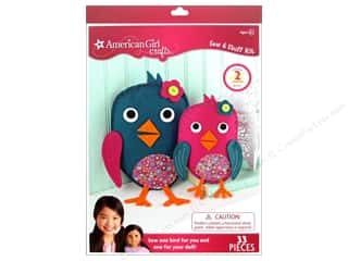 Kid Crafts Crafting Kits: American Girl Kit Sew & Stuff Birdies