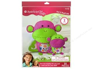 Crafting Kits $4 - $8: American Girl Kit Sew & Stuff Monkeys