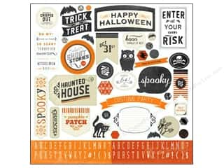 Carta Bella Halloween: Carta Bella Sticker 12 x 12 in. Happy Haunting (15 sets)
