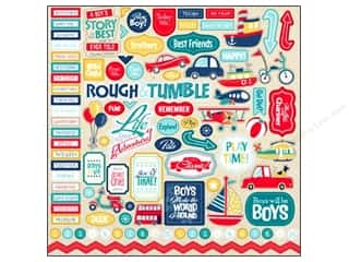 Carta Bella Sticker 12 x 12 in. Rough & Tumble Element (15 set)