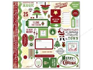 Carta Bella Carta Bella Chipboard Accents: Carta Bella Sticker 12 x 12 in. So This Is Christmas Element (15 sets)